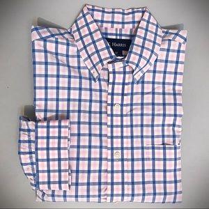 T Harris of London Window Pane Shirt